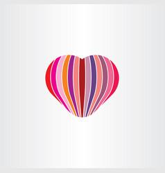 Heart love valentine icon sign vector