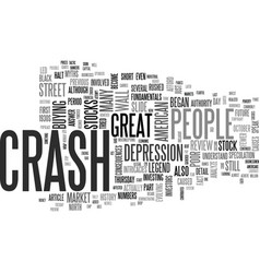 A review of the stock market crash of text word vector