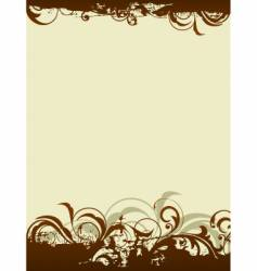 floral graphic background vector image