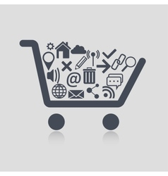 Shopping cart web vector