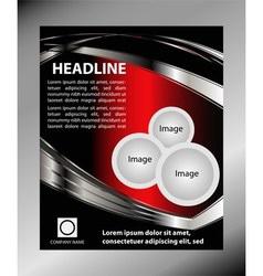Background flyer vector image