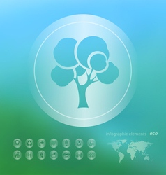 Ecology icon on the blurred background vector