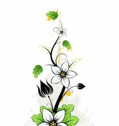 grunge summer flowers vector image