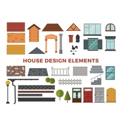 Family house design elemets vector