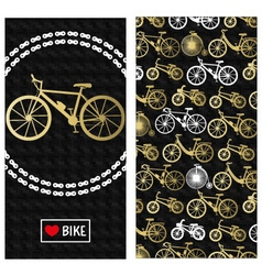 Invitation card with bike vector
