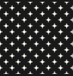 Abstract geometric pattern with crosses circles vector