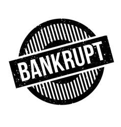 Bankrupt rubber stamp vector