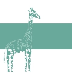 Banner with giraffe vector