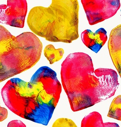 Colorful heart love pattern background vector