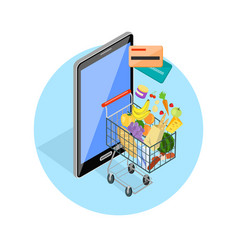 Concept of shopping internet shop vector