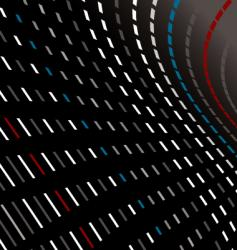 dot bend vector image vector image