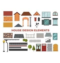 Family house design elemets vector