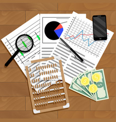 Financial analysis of statistics vector