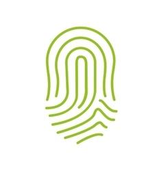 Fingerprint green icon image vector