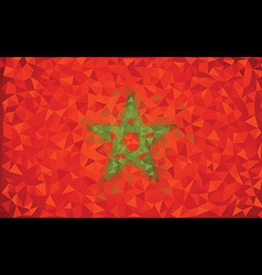 Flag Morocco grunge mosaic geometric pattern vector image vector image