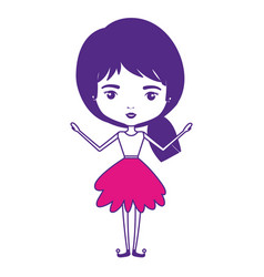 Girly fairy without wings and pigtail hair and vector
