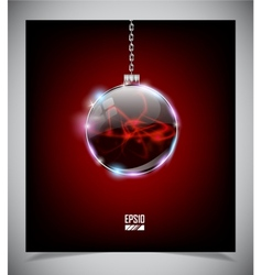 glass Christmas ball vector image