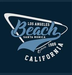 Graphic los angeles beach california vector