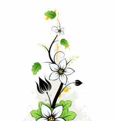 grunge summer flowers vector image
