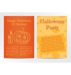 Halloween card invitation vector image vector image