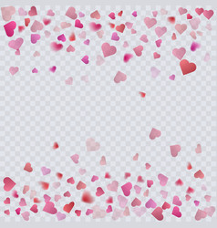 heart confetti on transparent background vector image