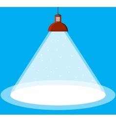 Illuminated ceiling lamp vector