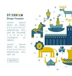 Invitation stockholm vector