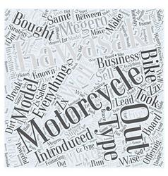 Kawasak motorcycles word cloud concept vector