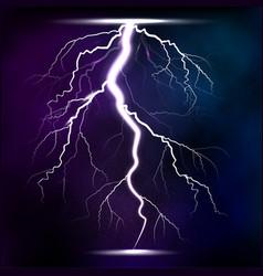lightning storm strike realistic 3d light lighting vector image