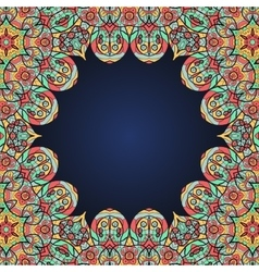 Mandala frame for text in oriental style vector image