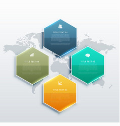 Modern four steps infographic design banners for vector
