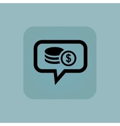 Pale blue dollar rouleau message vector