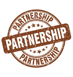 Partnership stamp vector