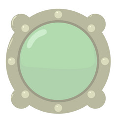 Porthole icon cartoon style vector