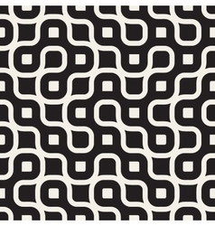 Seamless Black And White Rounded Irregular vector image vector image