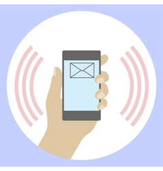 Sms on a mobile phone vector