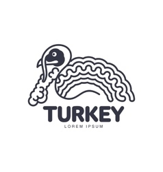 Stylized abstract side view turkey graphic logo vector image vector image