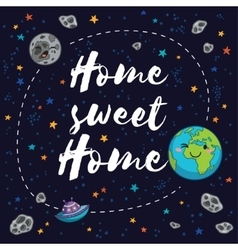 Sweet home fantastic childish background in vector
