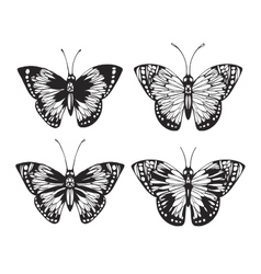 Vintage Butterfly set vector image vector image