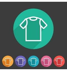 Tshirt t-shirt tee icon flat web sign symbol logo vector