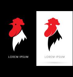 head cock logo vector image