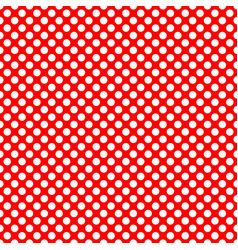 Tile pattern with white polka dots on red vector