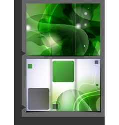 Green Template For Advertising Brochure vector image