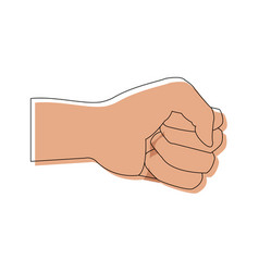 Hand showing five finger waving gesture icon vector