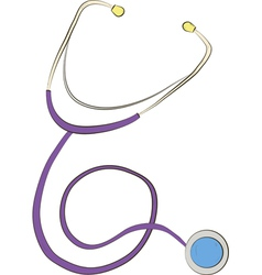 Stethoscope on white background vector