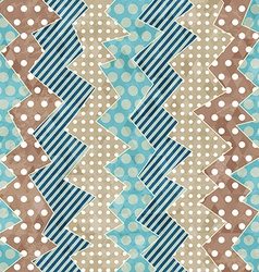 Retro cloth seamless pattern with grunge effect vector