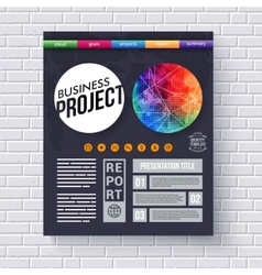 Dynamic business project design template vector