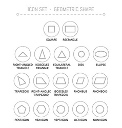 Icons with geometric shapes vector