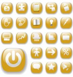 Business internet website buttons vector