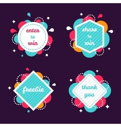 Colourful internet banners templates set vector